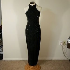 Vintage Long black evening dress